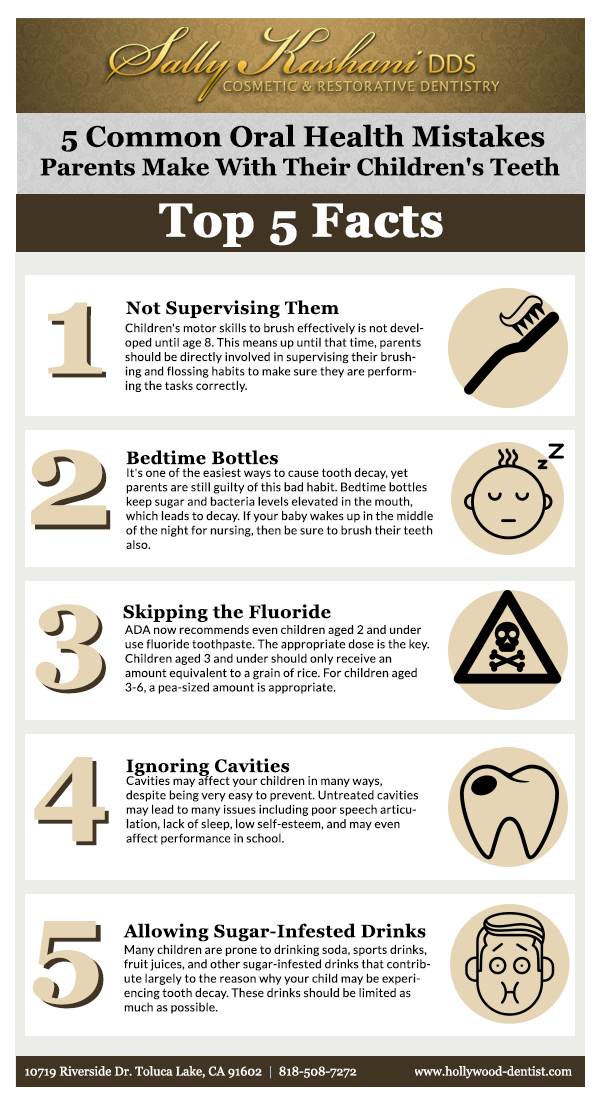 common oral health mistakes parents make